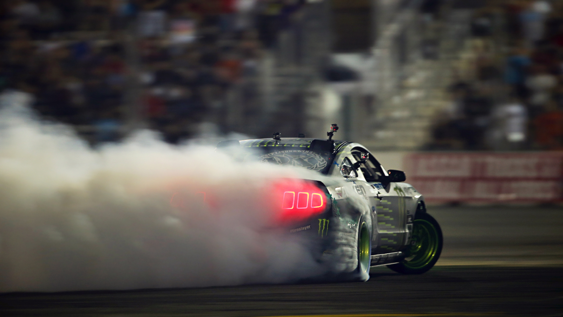Track Smoke Burnout Ford Mustang Drifting Tuned Tuner Tuning Wallpaper 1920x1080