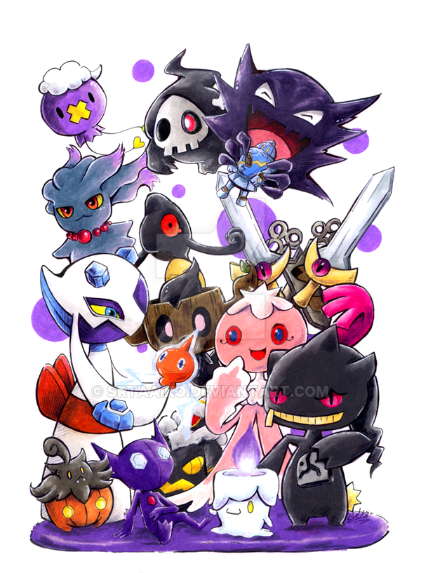 Pokemon Ghost Type   SOLD by SrtaAiko 600x817