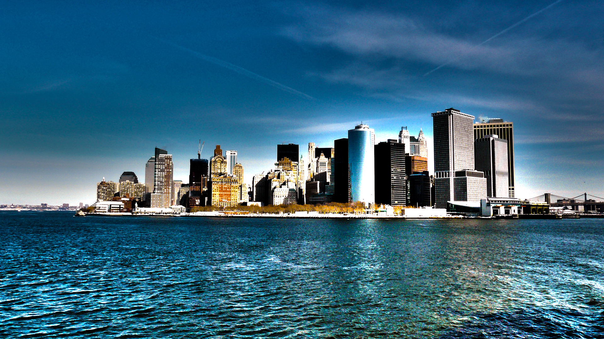 Pics Photos   New York Skyline Wallpaper Hd Wallpaper 1920x1080