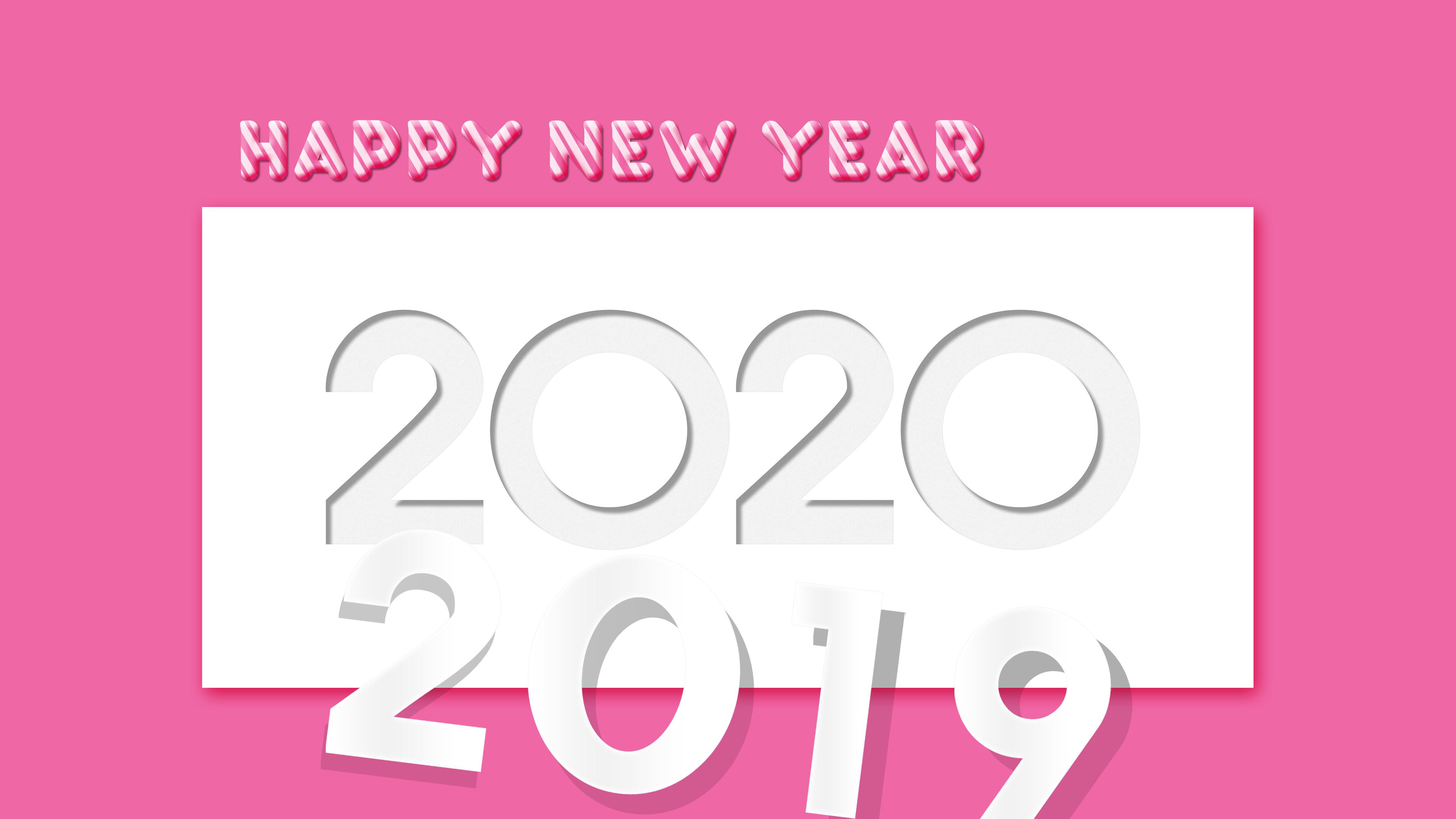 New Year 2020 4k Ultra HD Wallpaper Background Image 3840x2160 3840x2160