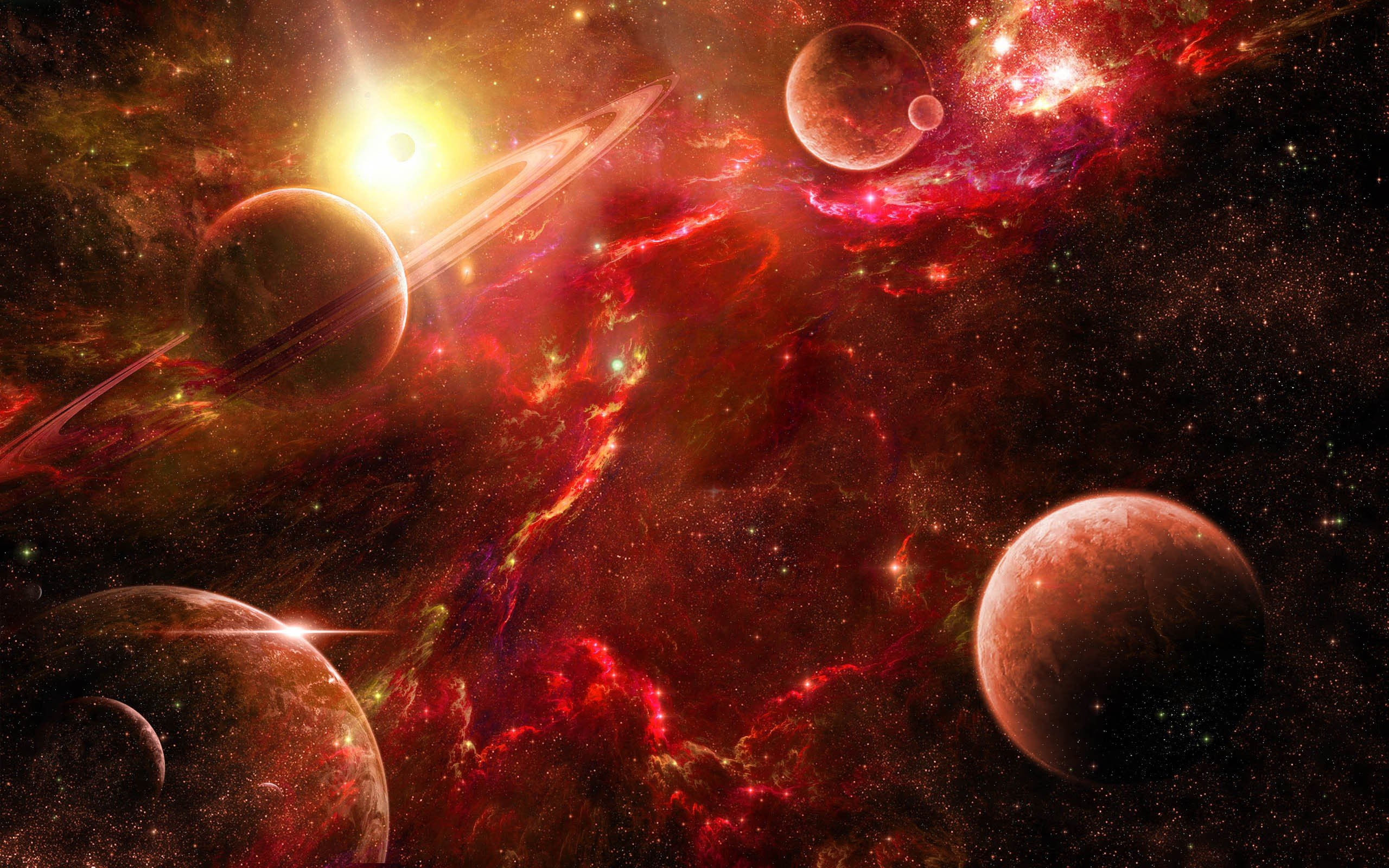 Outer space wallpaper planets wallpapersafari for Outer space planets