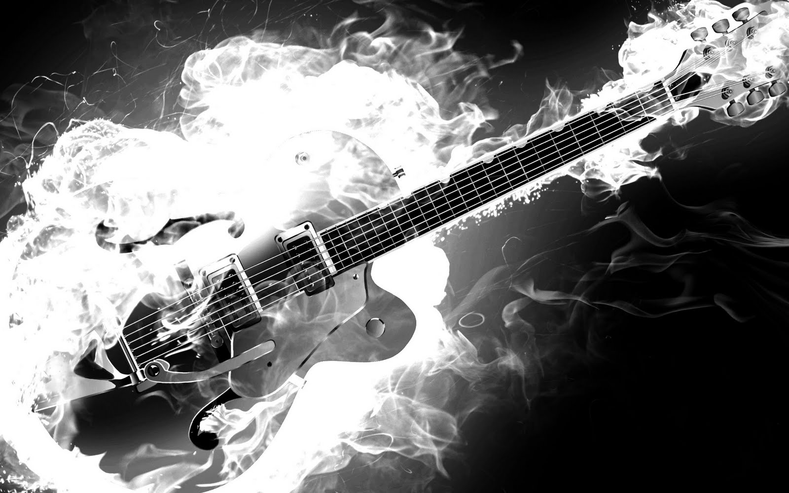 Smoke Flames HD Music Desktop Wallpaper   1920x1200 Great Guitar Sound 1600x1000