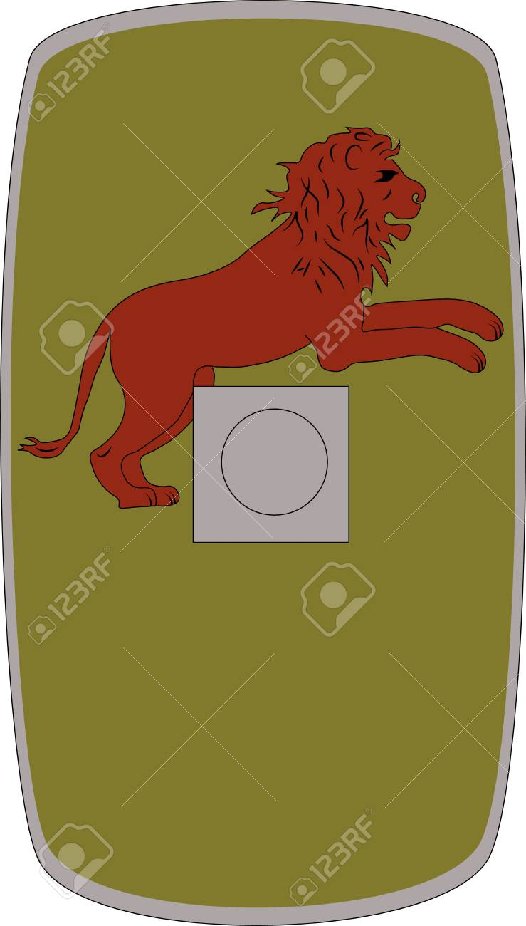 Vector Shield Of Ancient Roman Legoin Legio IV Flavia Felix On 739x1300