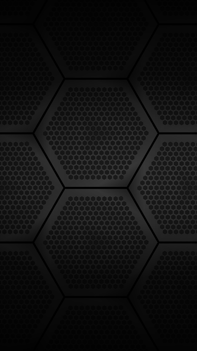Black Hexagons iPhone 5 Wallpaper 640x1136 640x1136