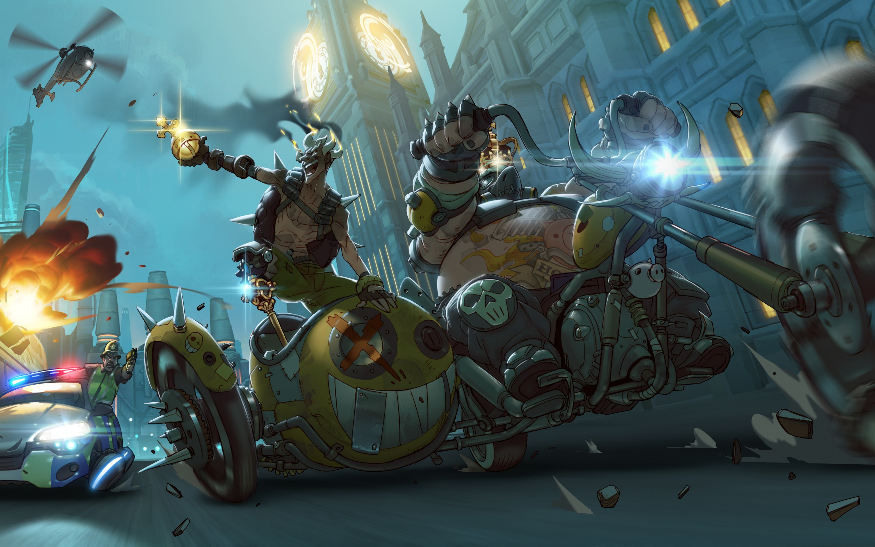 Overwatch Junkrat Mako Rutledge Jamison Fawkes   Stock Photos 2880x1800