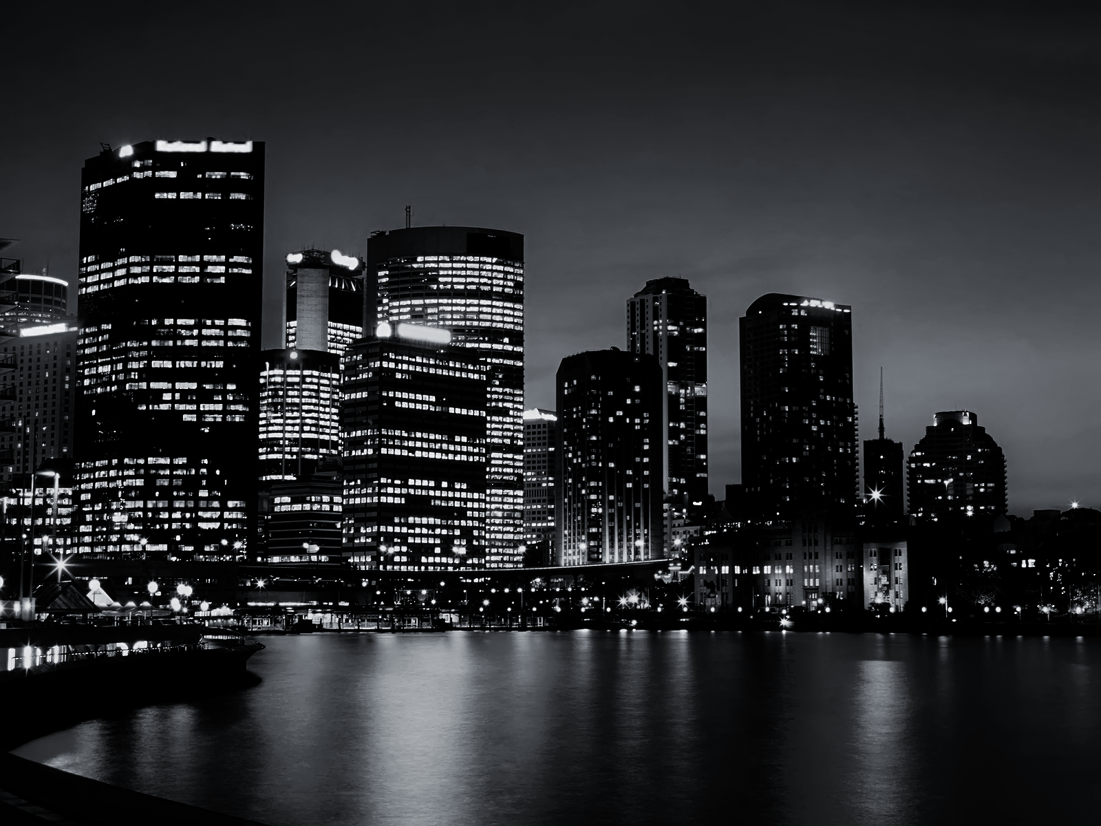 Black and White Sydney Skyline wallpaper The Facts and Reason Do 1600x1200