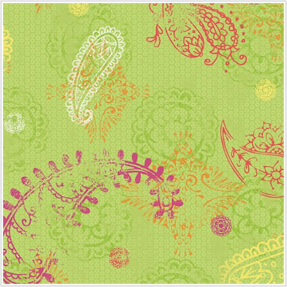 Paisley Lime Wallpaper   Wall Sticker Outlet 570x570