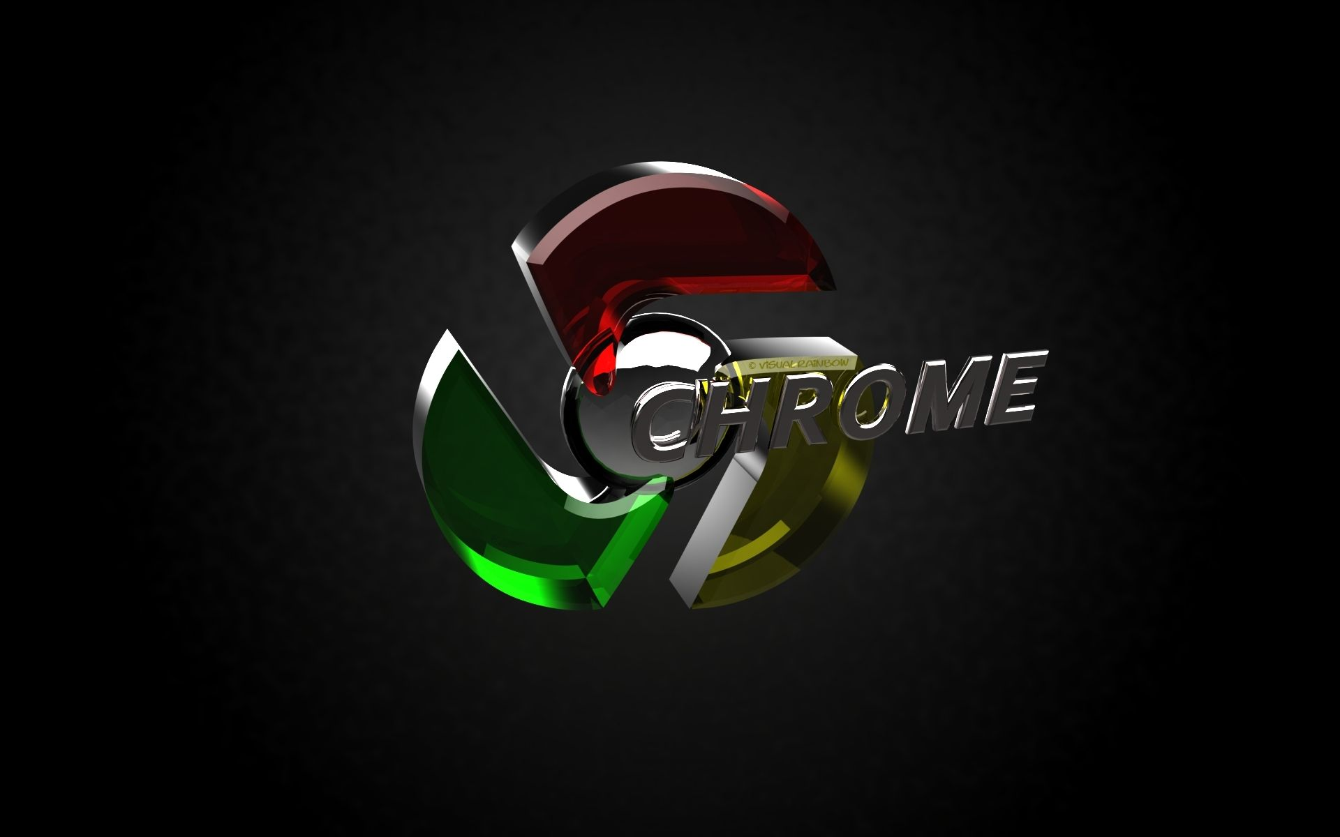 3D Google Chrome Logo Animated Black Wallpaper Desktop 283899 1920x1200