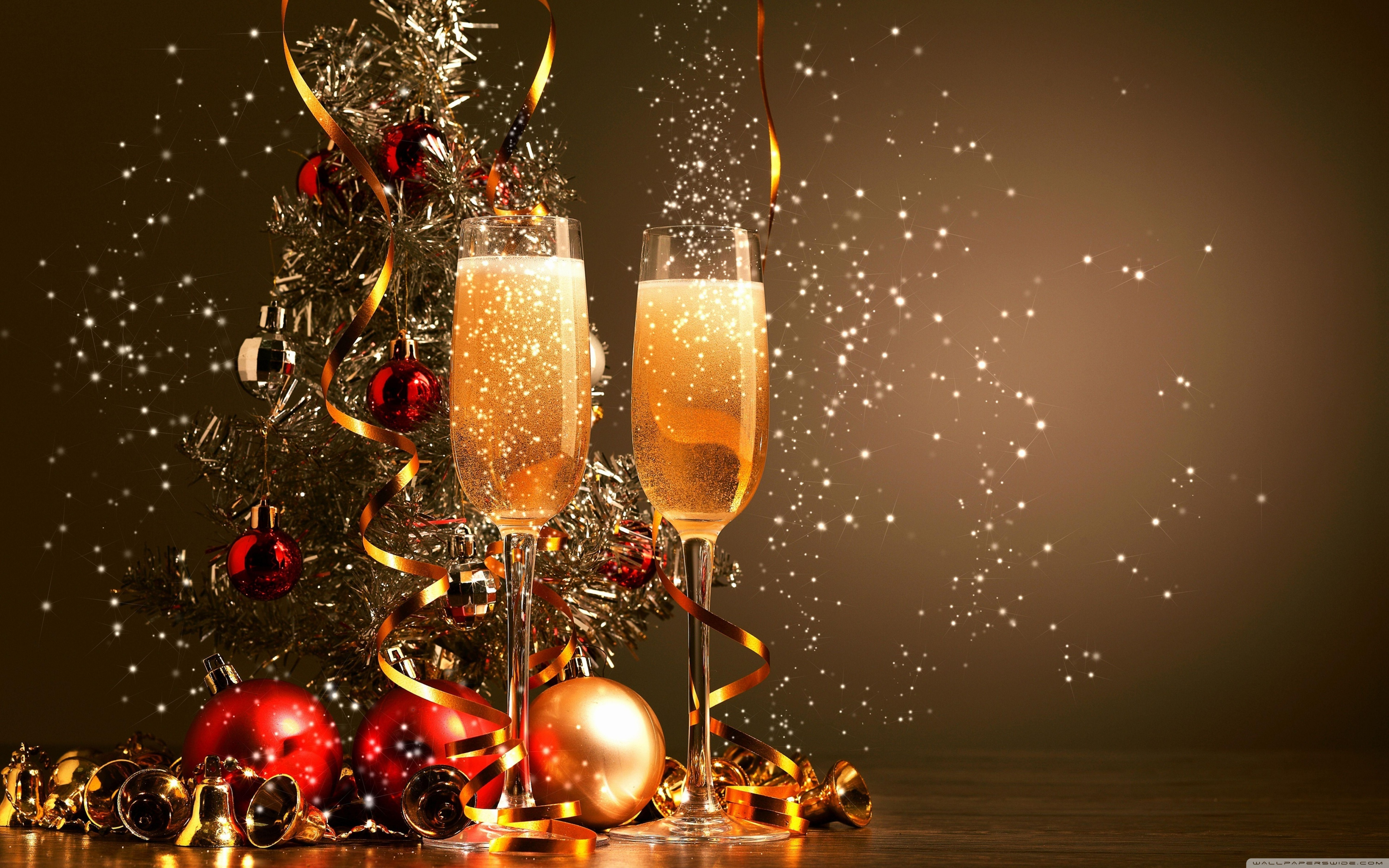 Happy New year 2015 champagne wallpaper Gallery 3840x2400