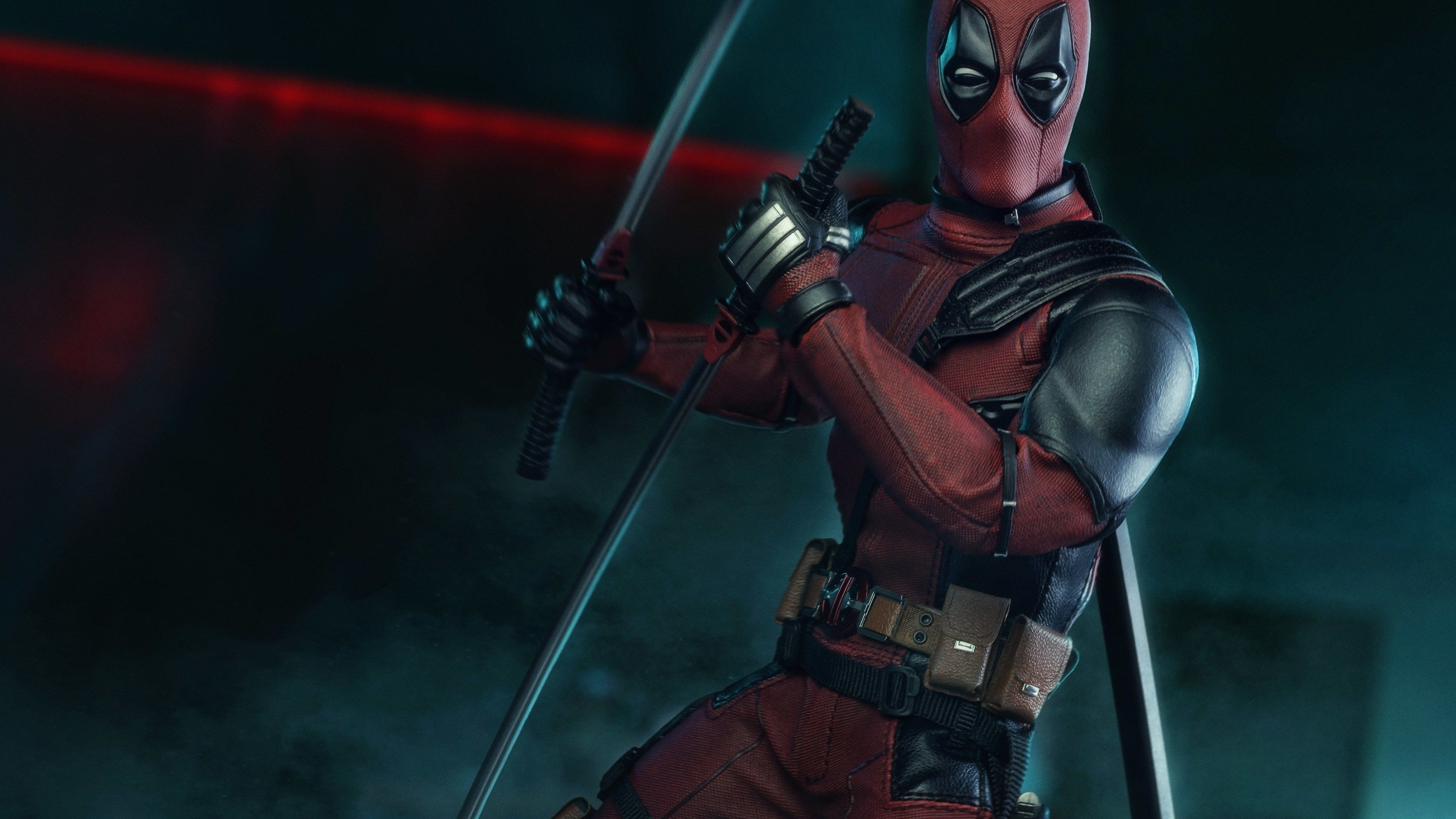 Deadpool With Swords 4k superheroes wallpapers hd wallpapers 3840x2160