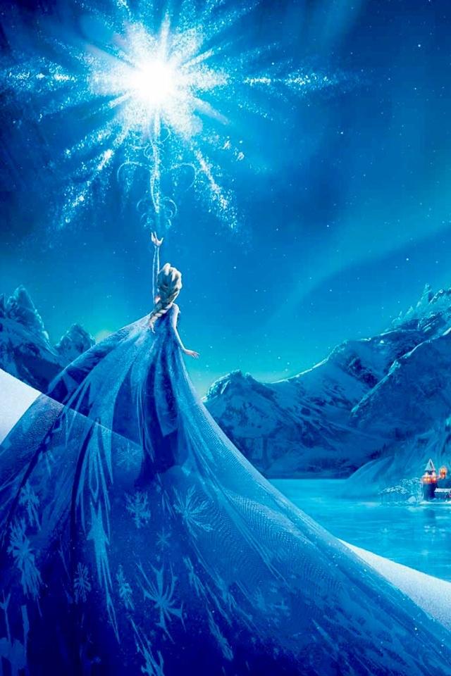 snow elsa frozen disney wallpapers for iphone 5s backgrounds 640x960