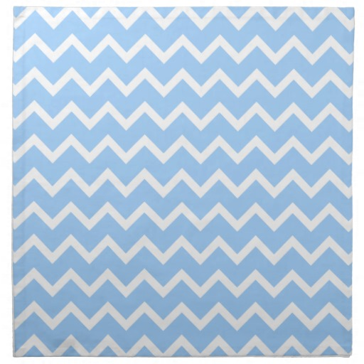 Pale Blue and White Zig zag Stripes Cloth Napkins Zazzle 512x512