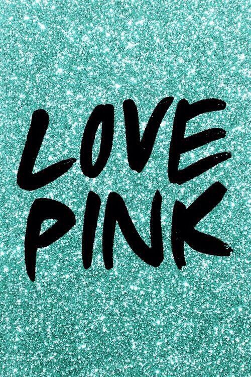 Pink in mint green glitter iPhone Wallpapers Pinterest Vs Pink 500x750