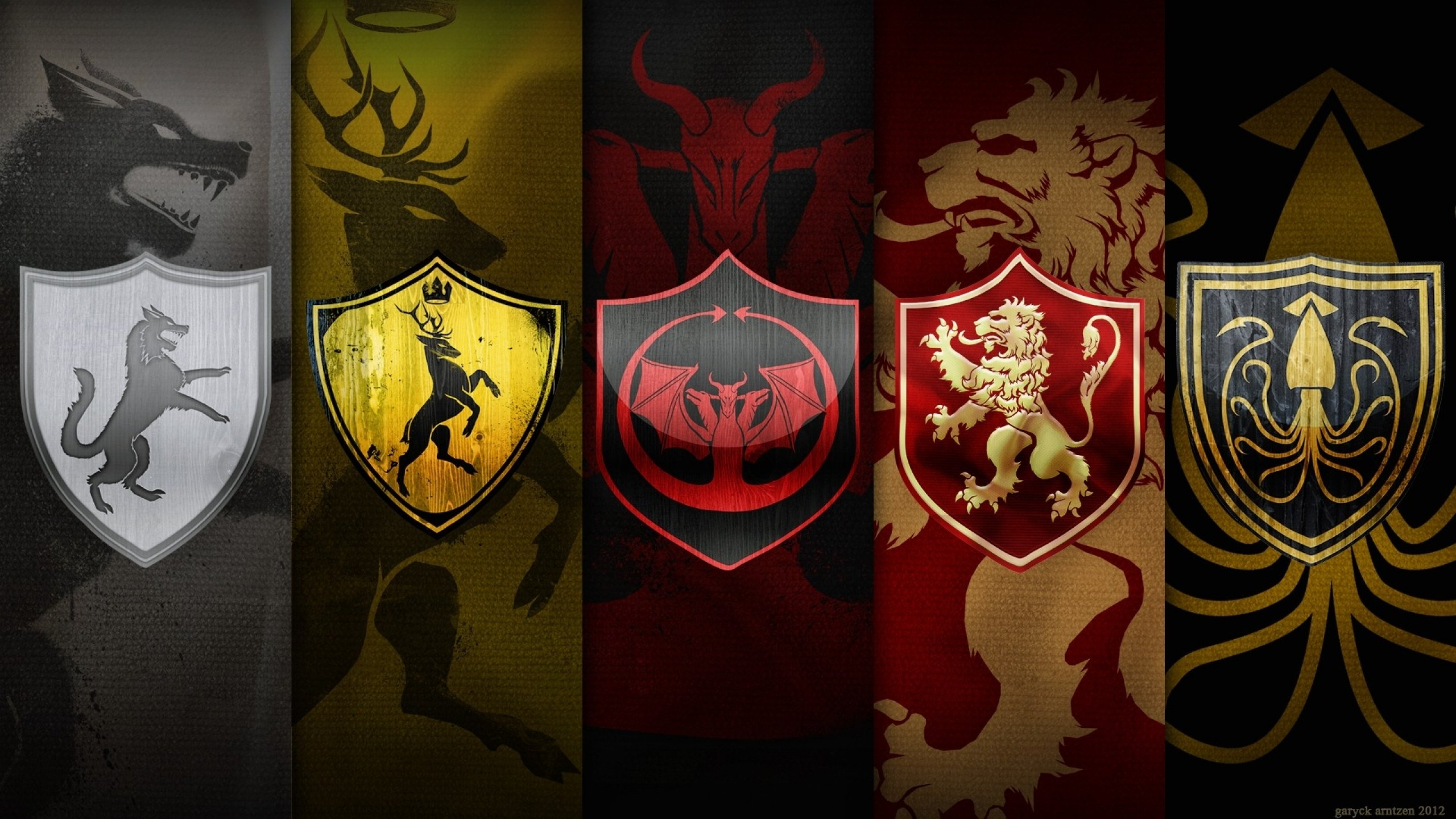 Game of Thrones Great Houses   Wallpaper High Definition High 2560x1440
