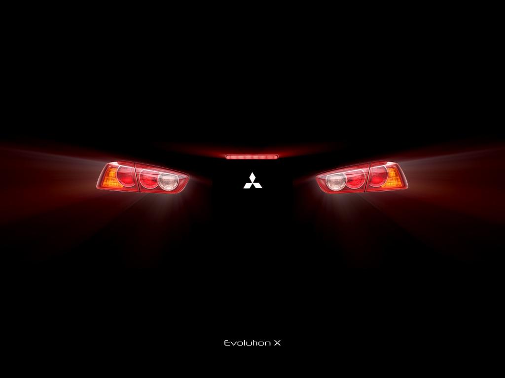 Mitsubishi Logo Wallpaper Evo x back by featheredpixels 1024x768