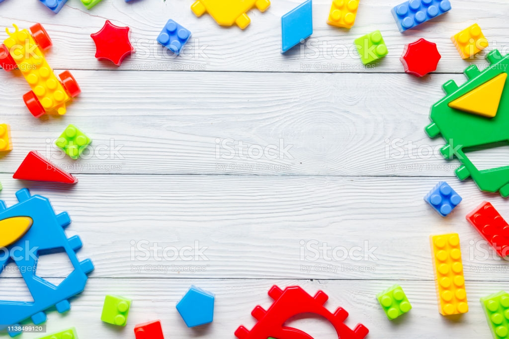 Kids Educational Developing Toys Frame On White Background Top 1024x682