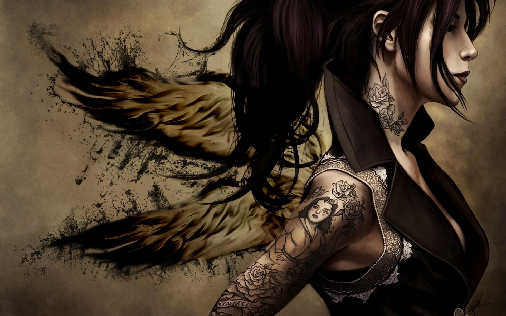 Hd wallpaper tattoo - Tattoo Hd Wallpapers Winged Tattoo Desktop Wallpapers Winged Tattoo