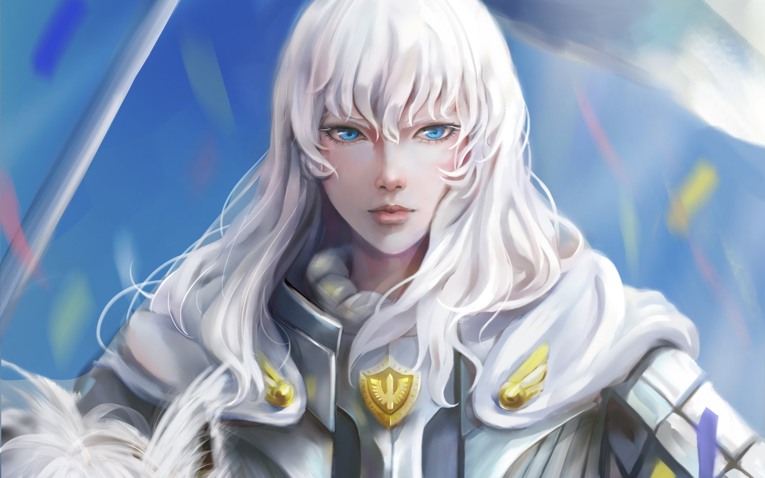 Download 2480x1550 Griffith Berserk White Hair Blue Eyes 2480x1550