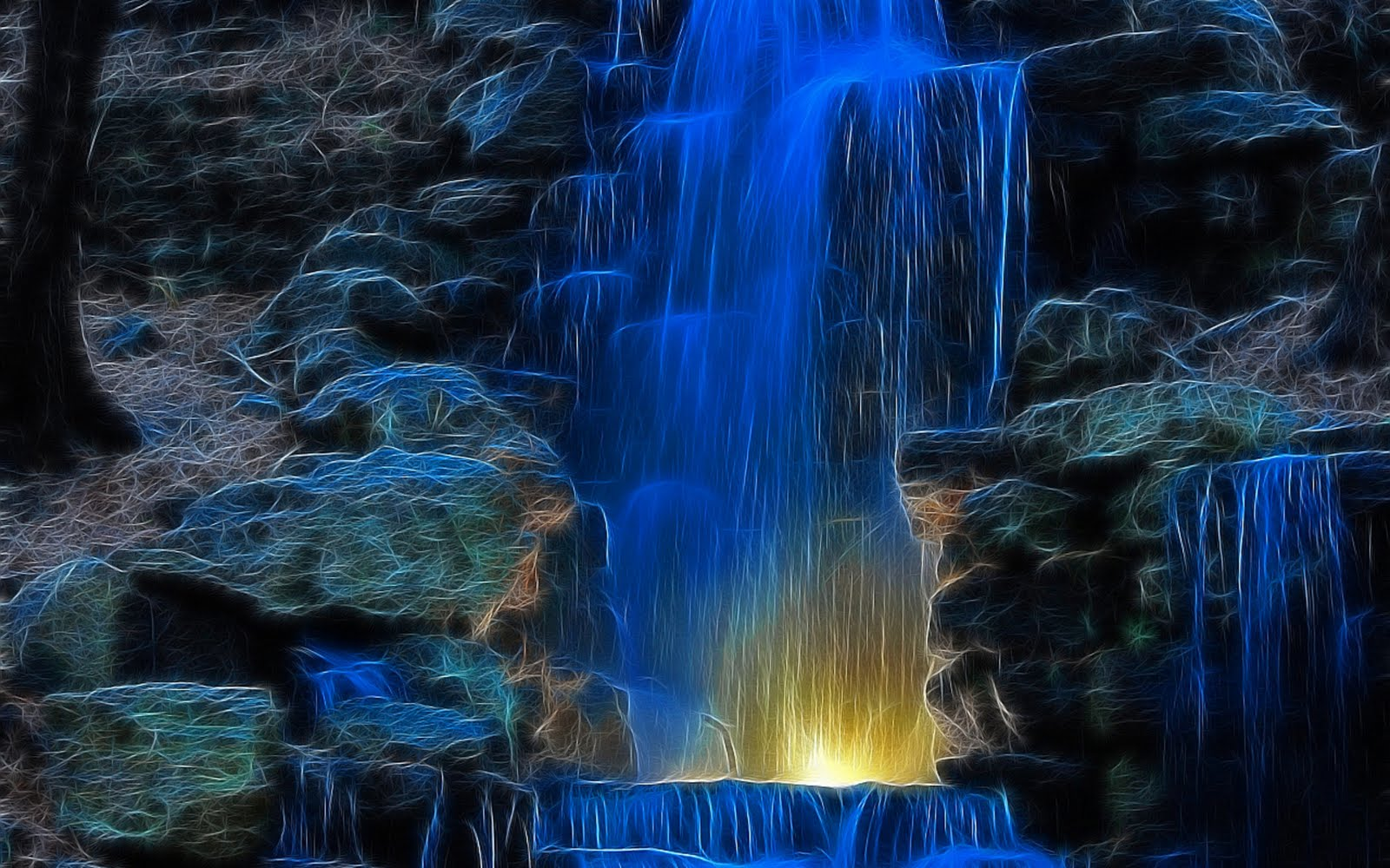free waterfalls animated wallpaper which is under the waterfall 1600x1000