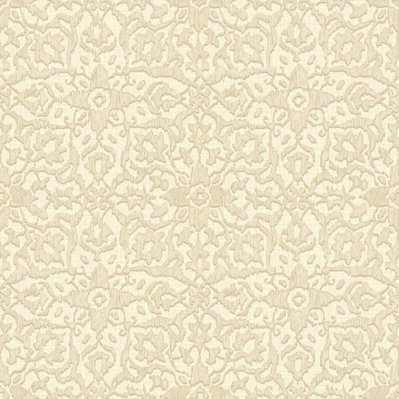 Grandeco Boho Chic Cream with Mocha Ikat Flower Wallpaper 10m Roll 1500x1500
