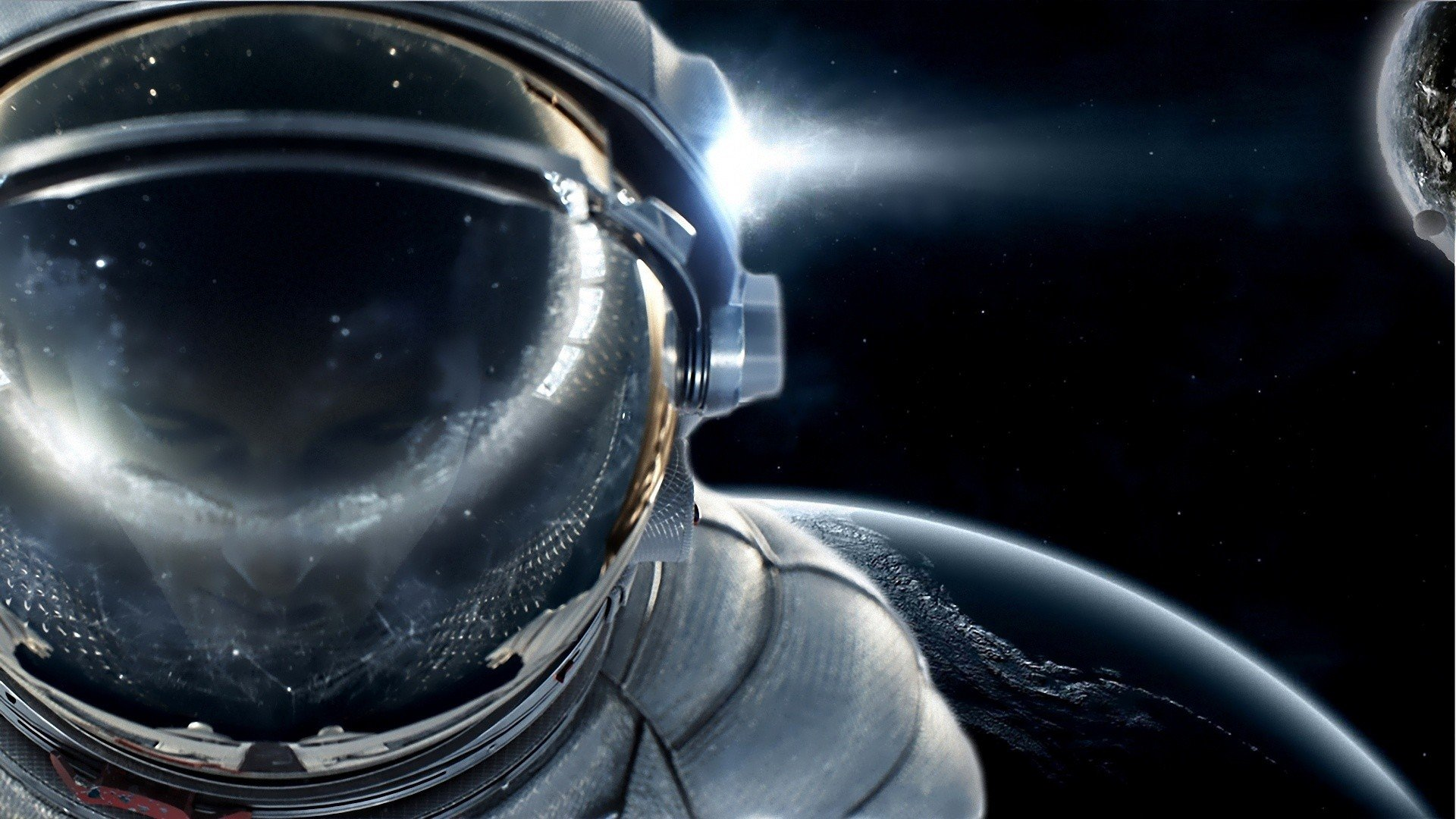 cool astronaut in space - photo #2