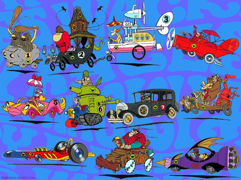 Wacky races wallpaper wallpapersafari for Wacky wallpaper