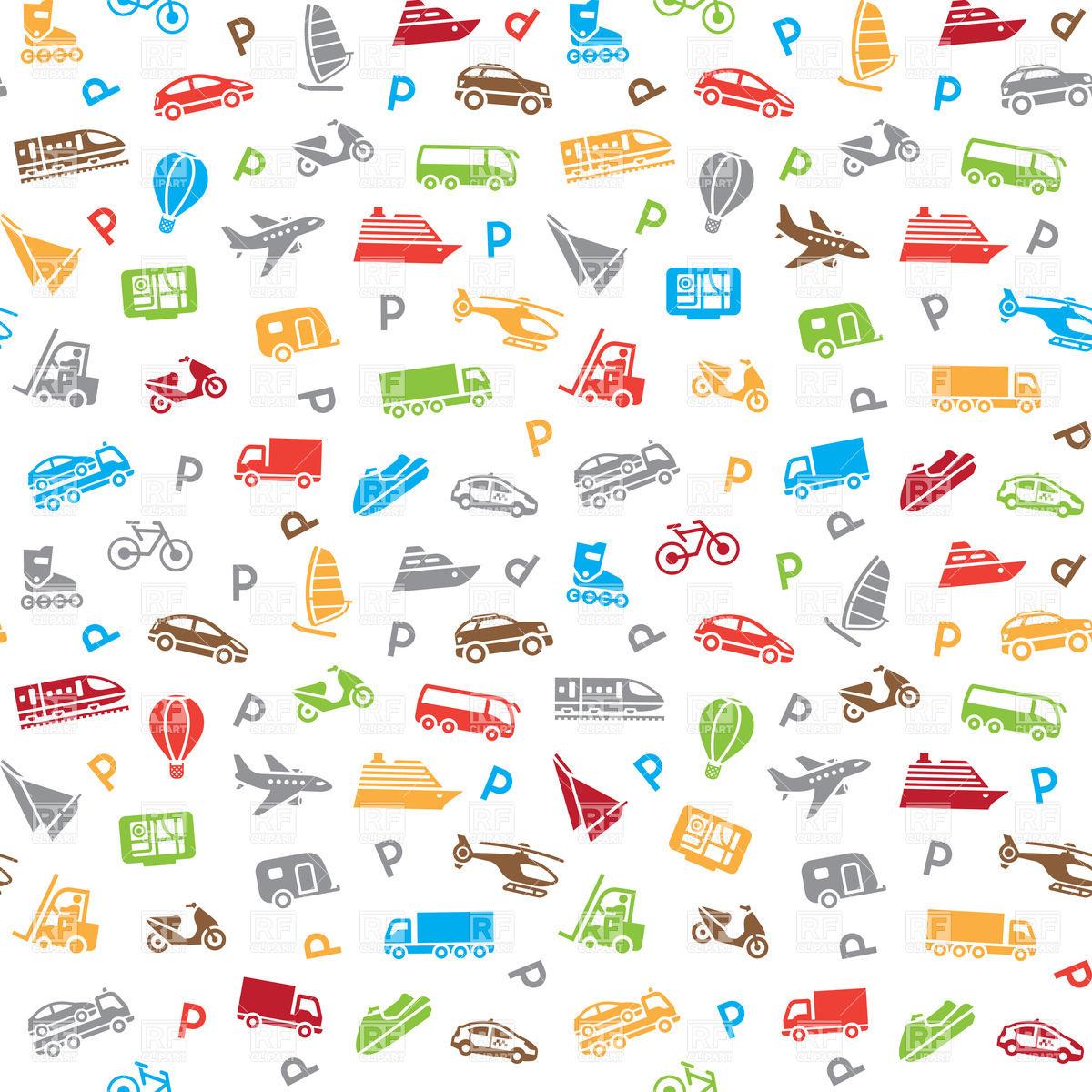 Seamless transport pattern wallpaper 18022 download royalty free 1200x1200