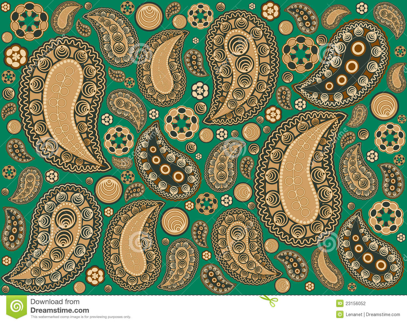Yellow paisley wallpaper wallpapersafari for Paisley wallpaper