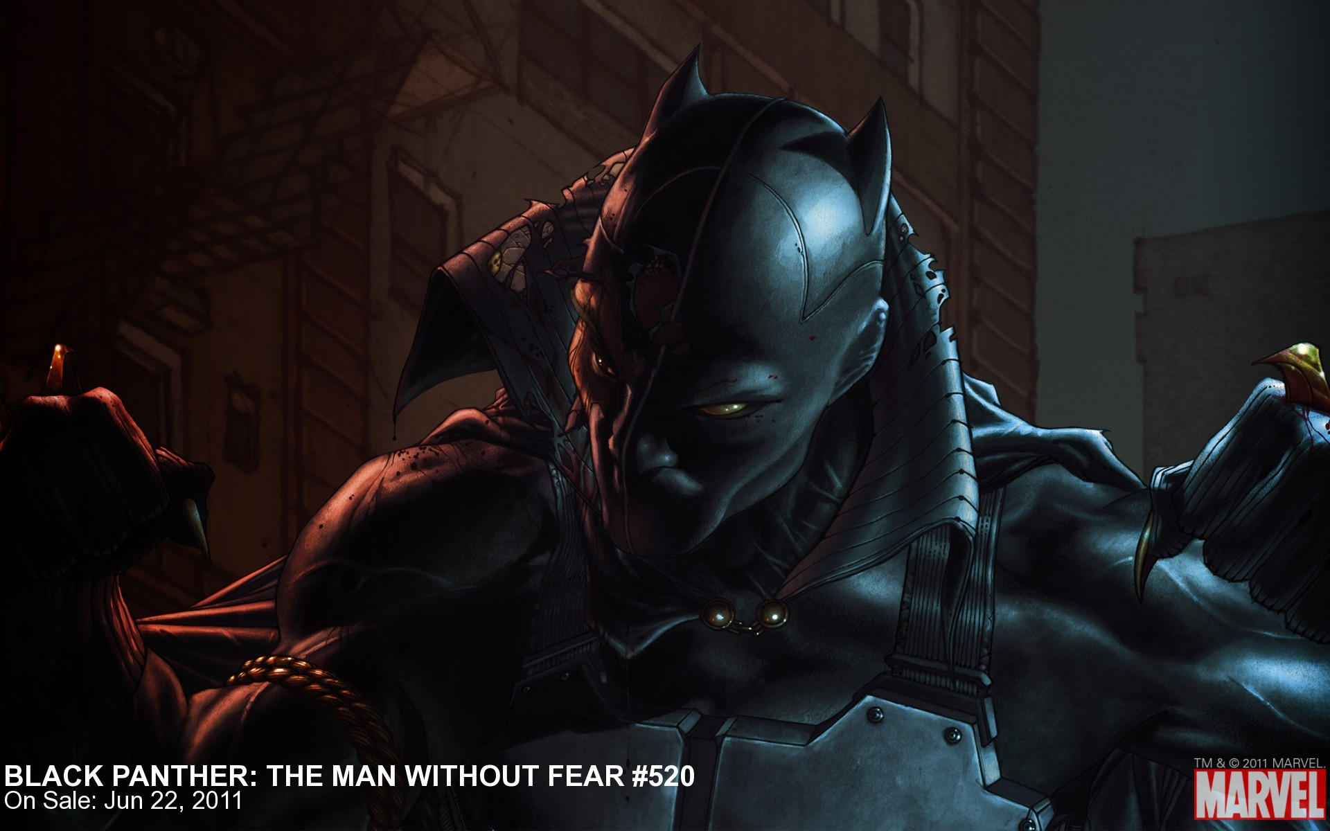 Black Panther Man Without Fear 520 Wallpaper Marvelcom 1920x1200