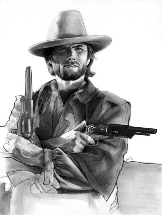 Items similar to Clint Eastwood as The Outlaw Josey Wales on Etsy 564x750
