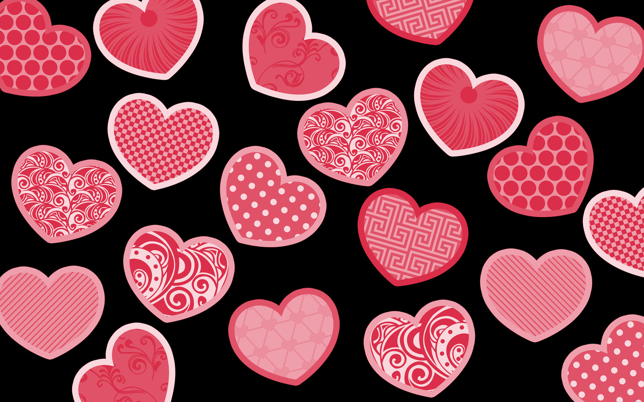 Free Download Pink Hearts Wallpaper 17347 1280x800 For Your
