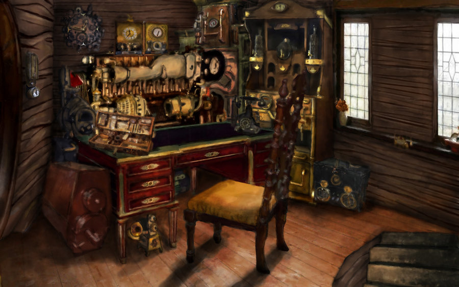 Steampunk Laboratory Awesome steampunk room by 900x563