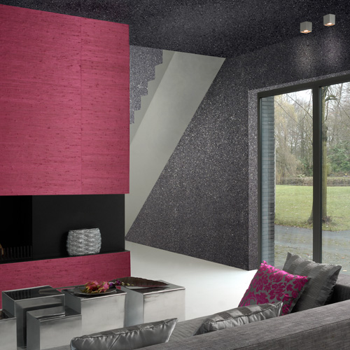 and you probably never thought the fuchsia and grey textured wallpaper 500x500