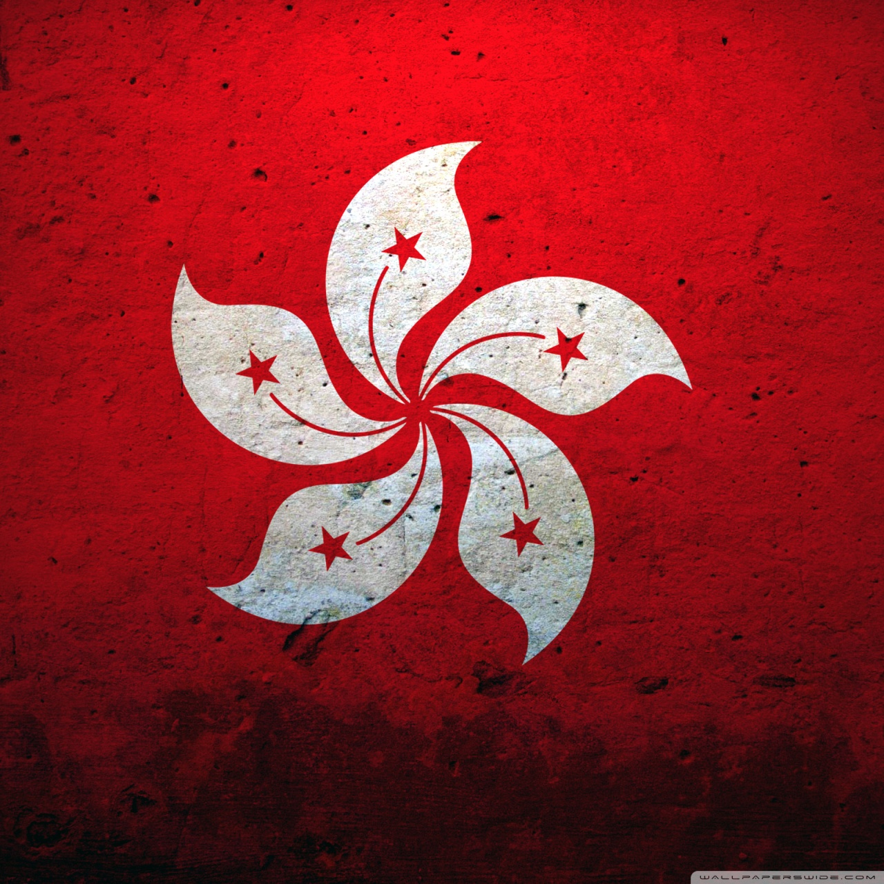 Hong Kong China Flag 4K HD Desktop Wallpaper for 4K Ultra HD TV 1280x1280