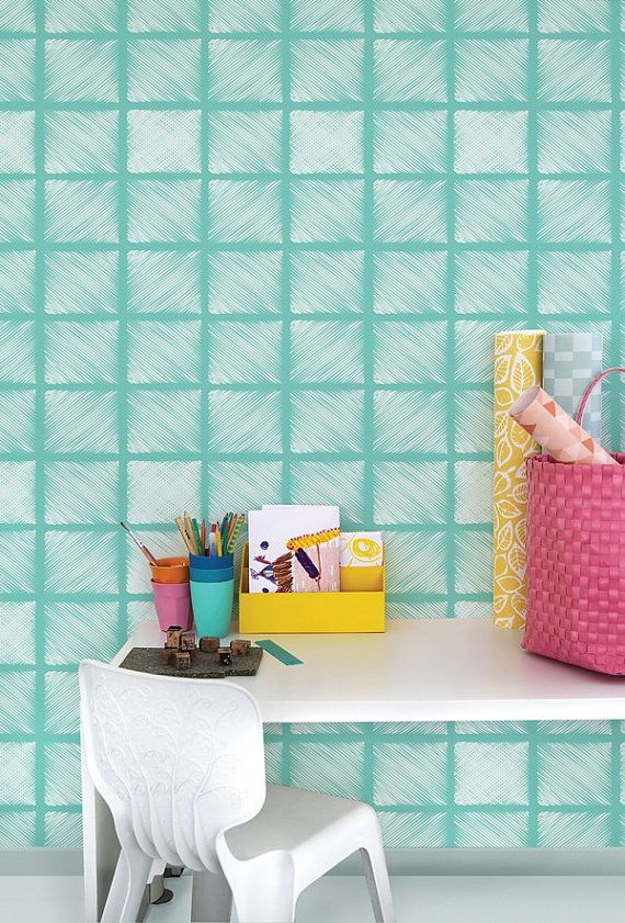 Removable temporary wallpaper is a great solution for renters looking 570x841