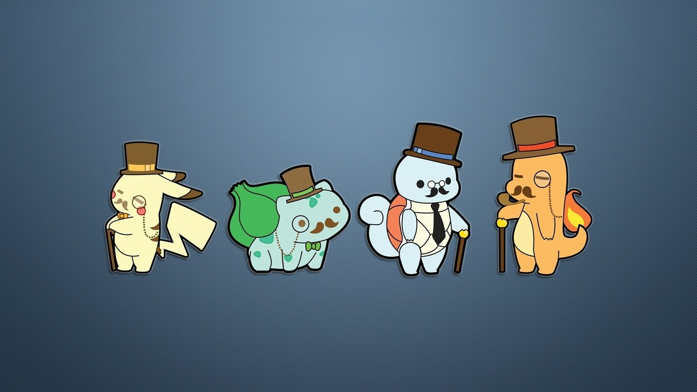 Download Gentleman Pokemon wallpaper 1365x768