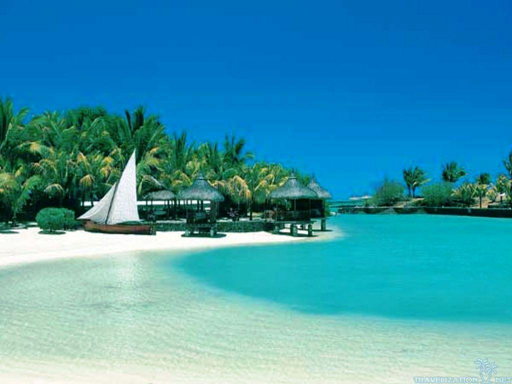 Tropical Beach Scene Wallpaper | Free Best Hd Wallpapers