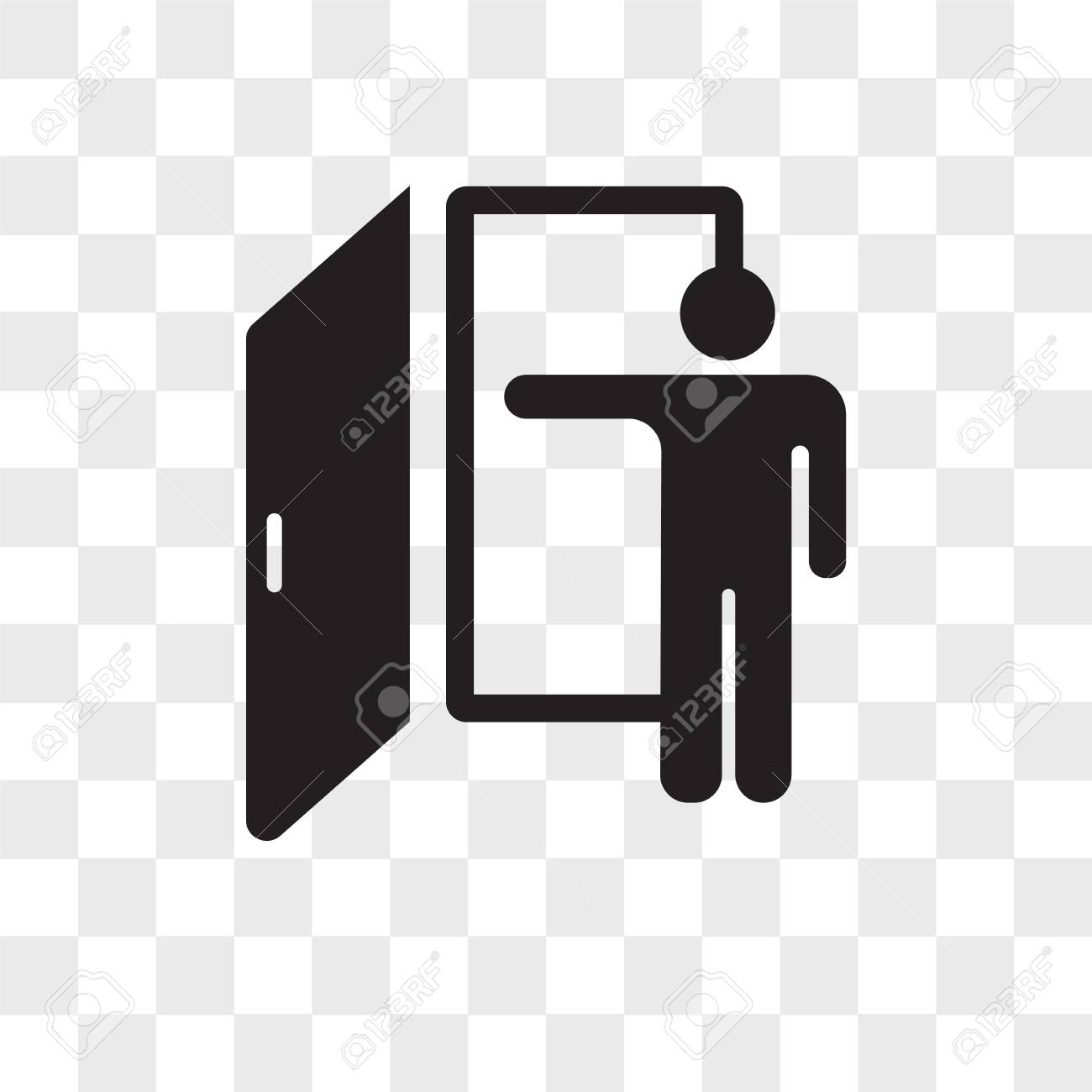 Exit Vector Icon Isolated On Transparent Background Exit Logo 1300x1300