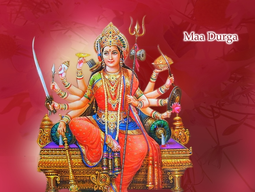 Religious Wallpapers Goddess Maa Durga Goddess Durga Devi 870x655