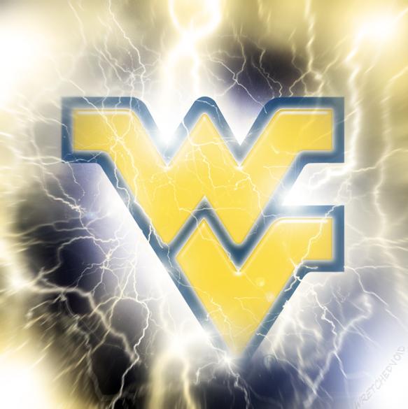 WVU Lightning Vortex Flying WV Logo 2012 by wretchedvoid 583x585