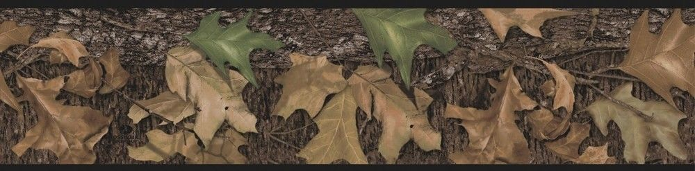 New Mossy Oak Wall Border Camouflage Peel Stick Wallpaper Hunters Room 1000x247