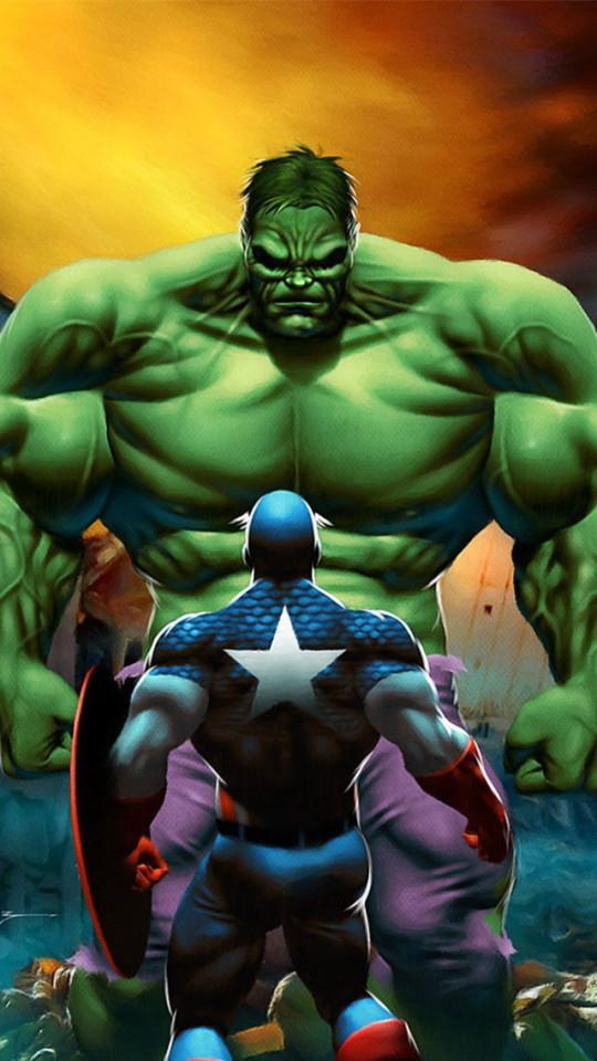 Captain America VS The Hulk Wallpaper   iPhone Wallpapers 540x960