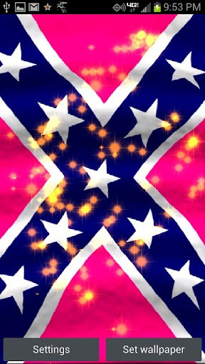 View bigger   Pink rebel Flag Live Wallpaper for Android screenshot 288x512