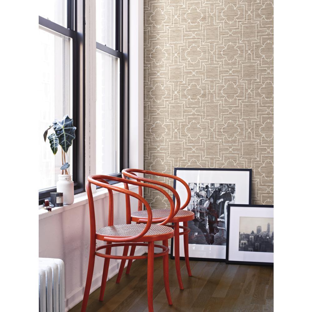 Trellis Oriental Faux Grasscloth Geometric Trellis Wallpaper eBay 1000x1000