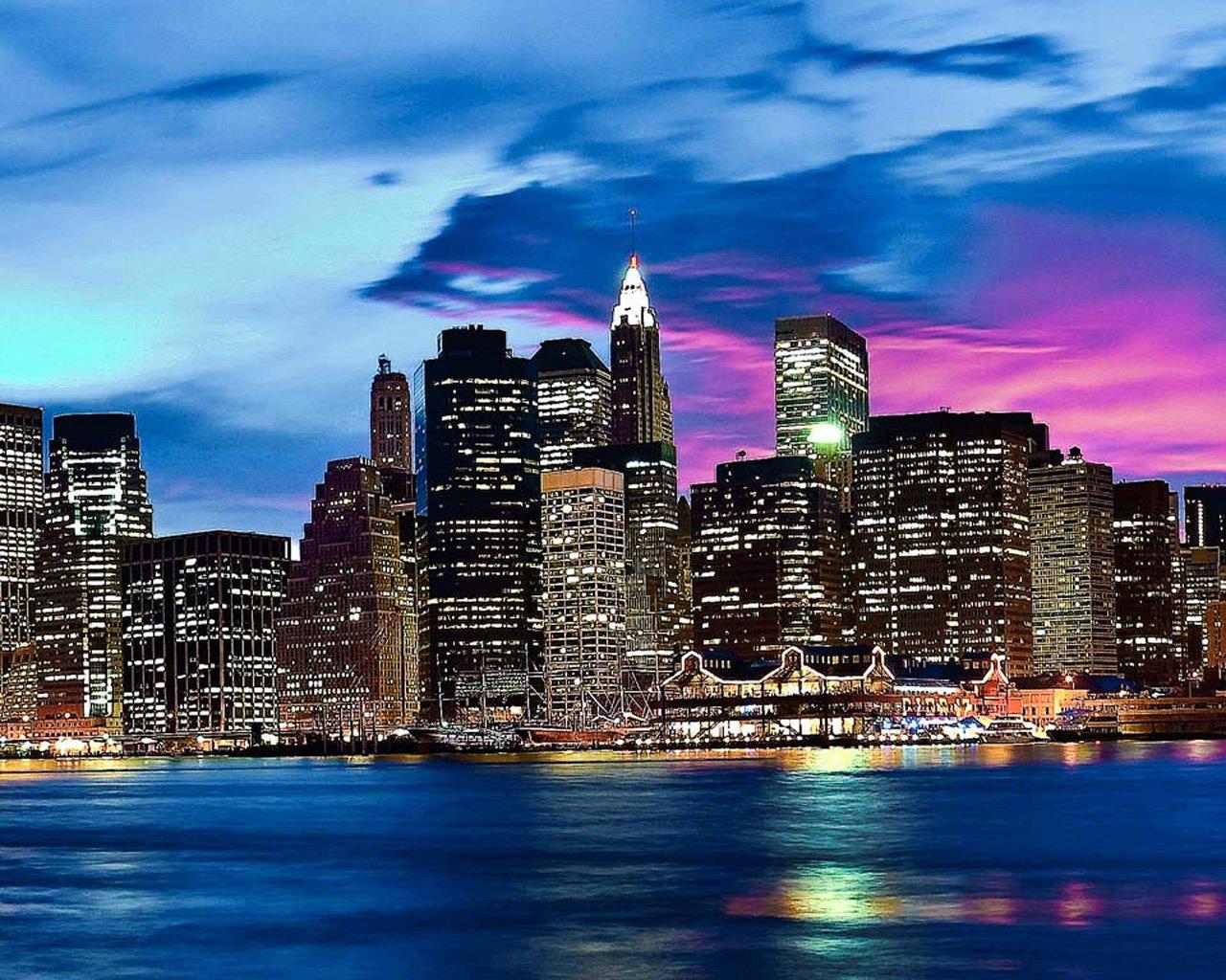 New York Skyline Colors Wallpaper 1280x1024 pixel Popular HD 1280x1024