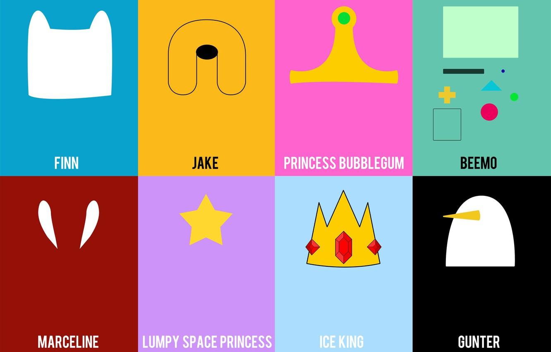 Wallpaper Jake Adventure Time Finn Marceline Gunter Ice King 1332x850
