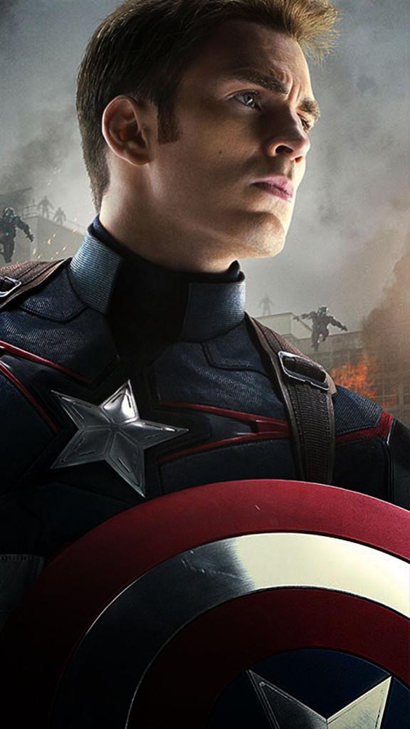 Avengers 2 Captain America iPhone 6 Wallpaper 576x1024