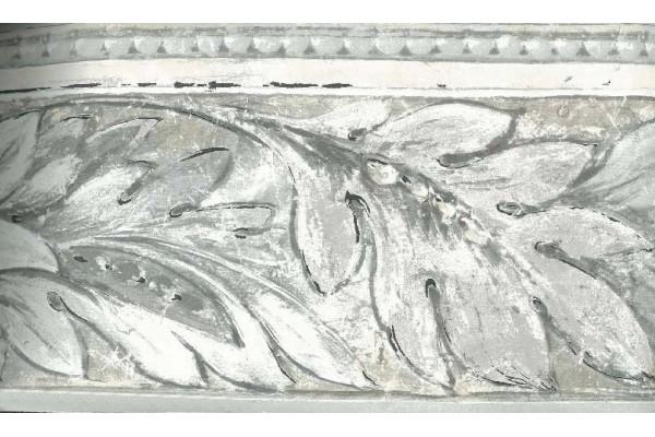 Home Cream Grey Stone Leaf Molding Wallpaper Border 600x400