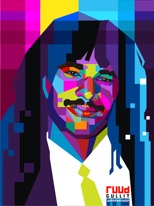 Ruud Gullit Pop Art WPAP by ndop 540x720