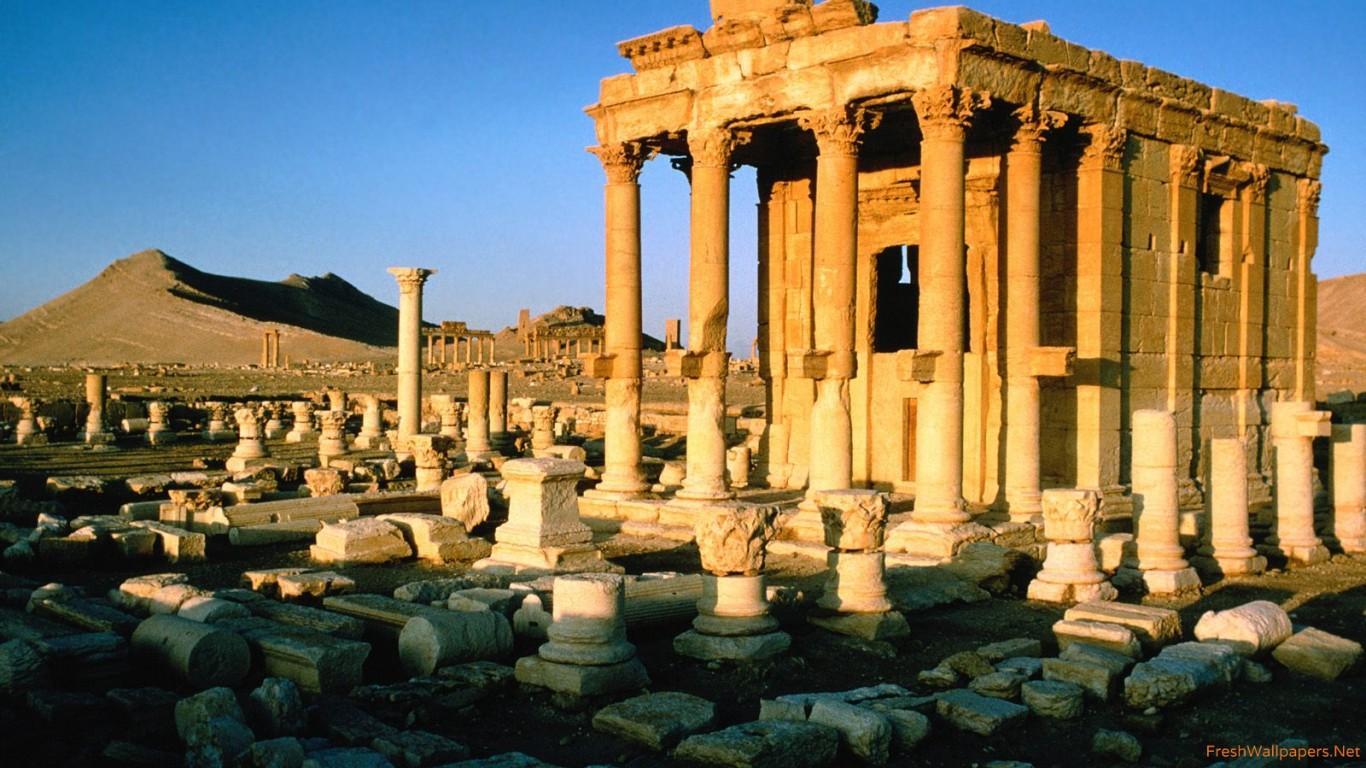 Palmyra Ruins Syria wallpapers Freshwallpapers 1366x768